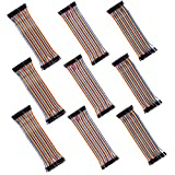 KABUDA 360 Pcs Multicolored Dupont Wire 40 Pin Male to Female x 3, 40 Pin Male to Male x 3, 40 Pin Female to Female x 3, Breadboard Jumper Wires Ribbon Cables Kit for Arduino (360 Wires)