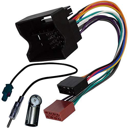 Macherina 2 DIN Adattatore Antenna Cavo Connettore Adattatore ISO ALTEA XL TOLEDO compatibile con SEAT ALTEA Sound-way Kit Montaggio Autoradio