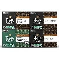 40-Pack Peet's Coffee Dark Roast Variety Pack K-Cup Coffee Pods