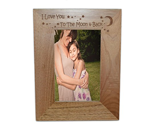Glam - FBA I Love You To The Moon and Back 5x 7Marco de Fotos de Roble