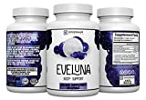 Eveluna - Natural Sleep Aid Supplement with Melatonin, Valerian, Tryptophan, 5-HTP and More - Non-Habit Forming Sleeping Pill Support - Wake Rested and Refreshed - 60 Veggie Capsules (1)