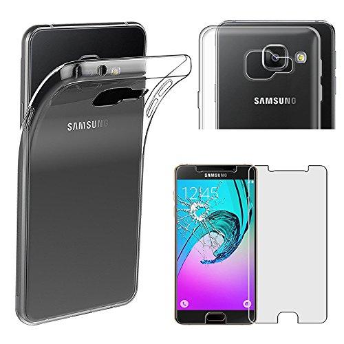 ebestStar - Funda Compatible con Samsung A3 2016 Galaxy SM-A310F Carcasa Silicona, Protección Claro Ultra Slim, Transparente + Cristal Templado [Aparato: 134.5 x 65.2 x 7.3mm, 4.7'']