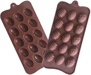 Easter Eggs Silicone Chocolate Cake Soap Mold Baking Ice Tray Mould Afternoon Tea Pastry Cooking (Chocolate)