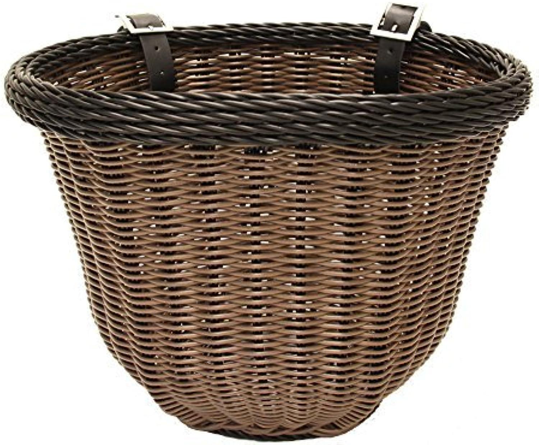 colorbasket 01396 Adult Front Handlebar Bike Basket, Brown with Black Trim by colorbasket