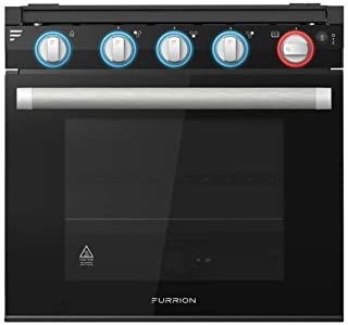 """Furrion 21"""" 2-in-1 Gas Range Oven (Black) with 3-Burner Cooktop for RV, Camper, or Trailers. Includes Multiple Safety Feat..."""