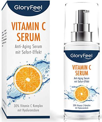 Vitamin C Serum Hochdosiert 30{7852ee5e791725a057257a5753f97a318fce44ad15571c27952245ccc873dcaa} - EINFÜHRUNGSPREIS - 100ml veganes Anti-Aging Gesichtsserum mit Hyaluronsäure für Gesicht & Haut - Dermatologisch getestet hergestellt in Deutschland