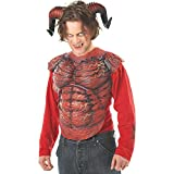 California Costumes mens Demon Horns W/Teeth Accessory Adult Sized Costumes, Red/Black, One Size US