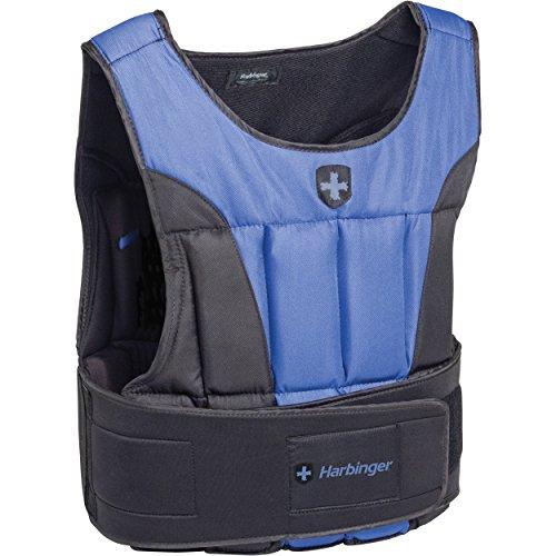 Harbinger Men's Adjustable Weight Vest for Cross-Training, Strength Training, and Endurance Workouts, 40 Pounds, Black
