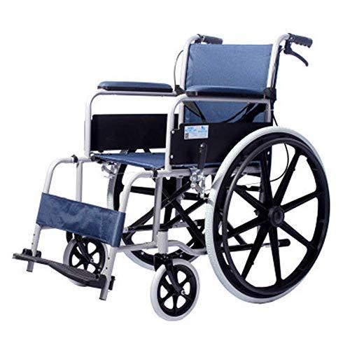 Cajolg Rollstuhl Faltbar,Fußpedal einstellbar,Kohlenstoffstahl hohe tragfähigkeit Erwachsene Rollstühle,Rollator Faltbar Leichtgewicht
