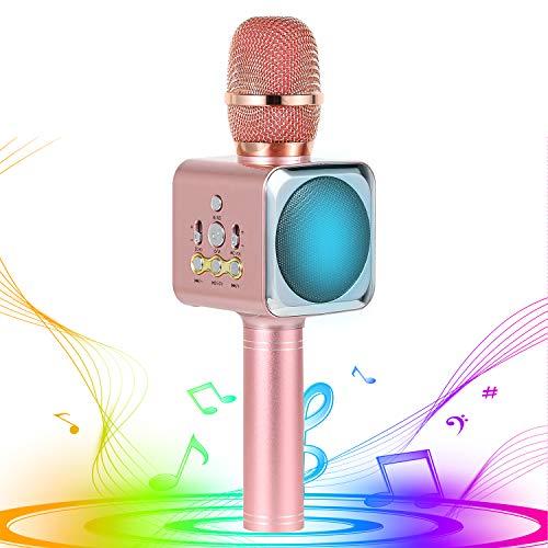 Xpassion Micrófono de Karaoke Inalámbrico Bluetooth, 4 en 1 Microfono Inalámbrico Altavoces, Portátil Karaoke para Niños Cantar, Función de Eco, Compatible con Android/iOS o Teléfono Inteligente