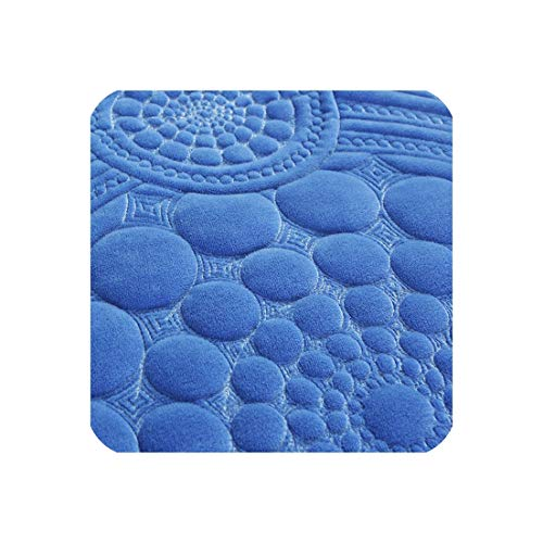 3D Floral Circle Pattern Sofa Cover Towel Slipcover Plush Fabric Thick Sofa Europe Non Slip Sofa Couch Cover Corner Towel Mats,Royal Blue 1 Piece,90x70cm 1pc