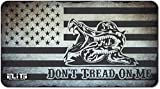 ELITE OUTDOORS MFG New Gadsden Don't Tread ON ME USA Flag Stone Gray and Black Gun Cleaning MAT 12inch x 22inch. Made in The USA. Free Wallet Bottle Opener Included.