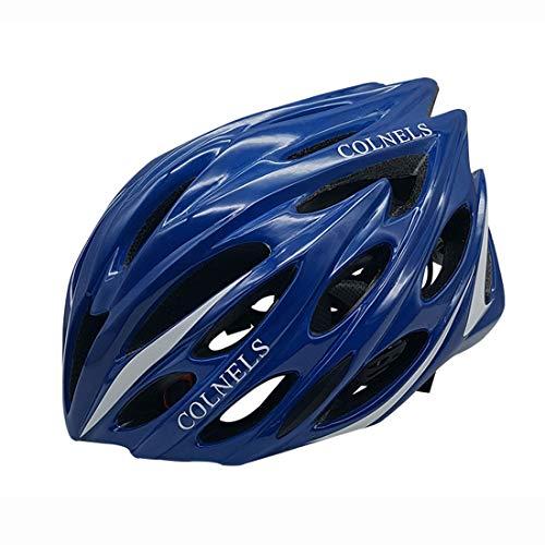 Casco de bicicleta de carretera, casco de ciclismo para hombre, cómodo, transpirable, totalmente formado, color azul