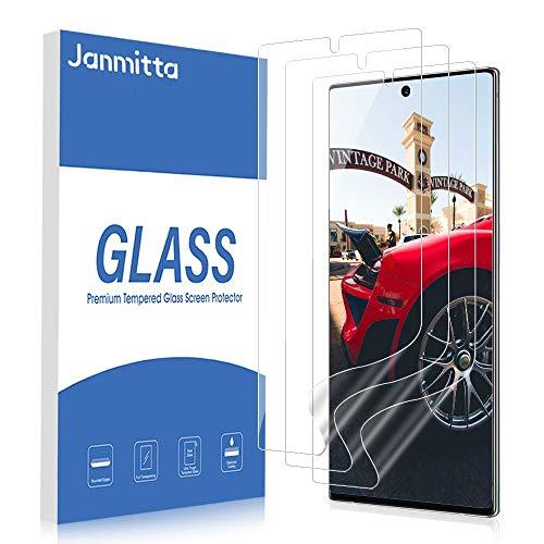 Janmitta [3 Stück] Schutzfolie für Samsung Galaxy Note 10+ /Note 10 Plus /Note 10+ 5G [kein Glas] , TPU Full Coverage Liquid Skin, [Keine Bläschen] Bildschirmschutzfolie Flexible Folie 2019