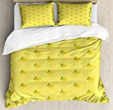 """INCLUDES - 1 CALKING Duvet Cover 104"""" X 98"""" + 2 Pillow Shams 36"""" X 20"""" - COMFORTER NOT INCLUDED. MADE FROM - 100% Brushed microfiber fabric. Super soft for ultimate comfort. Vivid colors and image. EASY TO USE - The duvet cover has a hassle-free hidd..."""