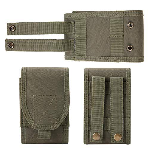 Portátil de Nylon Ligero Durable del Bolso del teléfono del ejército 1000D para el iPhone máximo 8 más del iPhone XS(Armygreen)