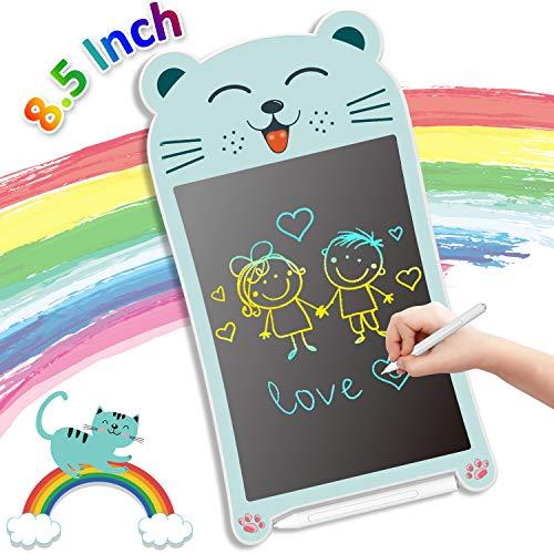 GUYUCOM Tableta de Escritura LCD, Tablero de Dibujo Electrónico de 8.5 Pulgadas, Tablero de Escritura Colorido Mejorado con lápiz,Juguetes Educativos de Aprendizaje y Regalos para niños niñas (Gato
