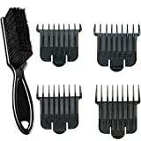Andis 4 Snap-on Combs Attachment Set for T-Blade with a BeauWis Blade Brush