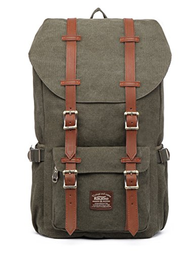 KAUKKO Rucksack Damen Herren Studenten 17 Zoll Backpack für 15' Notebook Lässiger...
