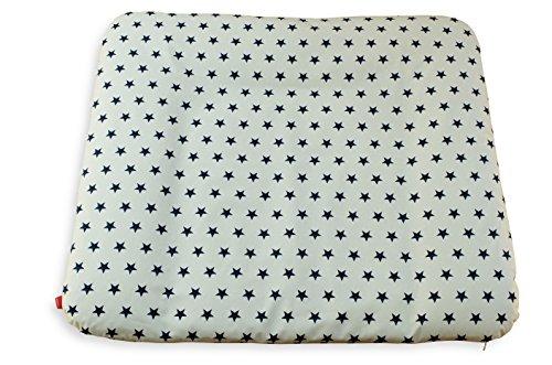 Ideenreich 2255 schadstofffreie Wickelauflage Sterne weiß-blau mit abnehmbaren Bezug, 75 x 85 cm