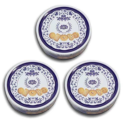 Danish Butter Cookies / Dänische Butter Kekse - Gebäck in wunderschöner, blauer Dose - 454 g (3 x 454 g Dose)