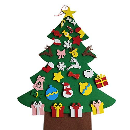 OUYAWEI Home Kerst Decoratie Kinderen Handgemaakte Puzzel DIY Driedimensionale Vilt Doek Kerstboom Kerstmis Hangende Geschenken