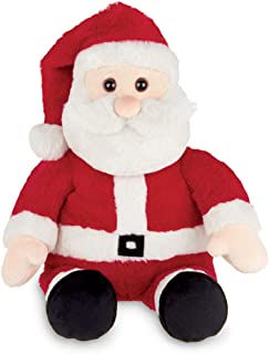 Bearington Kringle Christmas Plush Stuffed Santa Claus, 16 inches