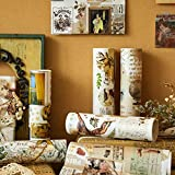 Papel De Regalo, Lychii 6 Rolls Hot Stamping Papel De Recortes, Vintage Decor Gold Foil Paper Rolls - 15cm*120cm*6 Design Supplied
