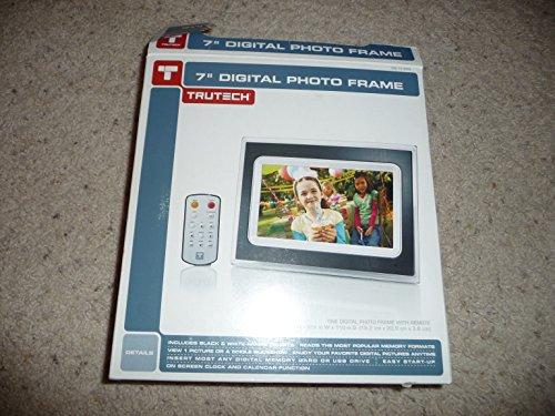 TruTech 7-Inch Digital Photo Frame - Black/White (A60P0315) Digital Frames Picture