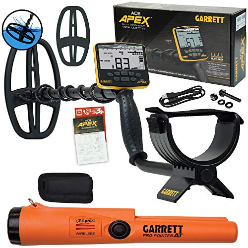 Garrett ACE APEX Metal Detector with Garrett Pro-Pointer at with Z-lynk