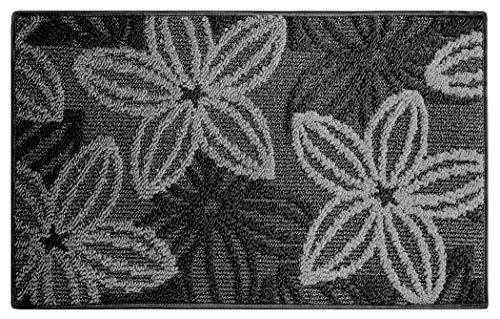 Lashuma Küchenteppich eckig, Moderner Küchenvorleger Enea Grau, Bodenmatte 50x80 cm