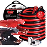 TOPDC Jumper Cables 1-Gauge 25-FT 700Amp Heavy Duty Booster Cables with Carry Bag (1AWG x 25')