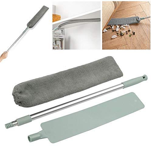 MOGOI Spazzola di Polvere da Letto, Regolabile Long Handle Sweep Cleaning Brush per Sofa Bed Bottom Household Gap Dust - Strumento di Pulizia a Uso Umido o Secco (#1)