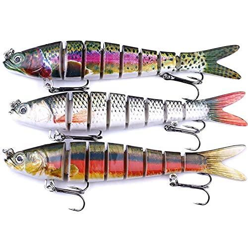 3pcs Bass Fishing Lures Swim Bait Tackle Kit Animated Live Target...