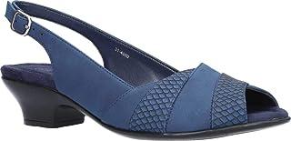 Easy Street Women's Block Heel Sandal Heeled, Navy, 5