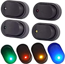 12V 30A Waterproof LED Light On/OFF Car Boat Marine Auto Motorcycle 3P Rocker SPST Toggle Switch,Pack of 4