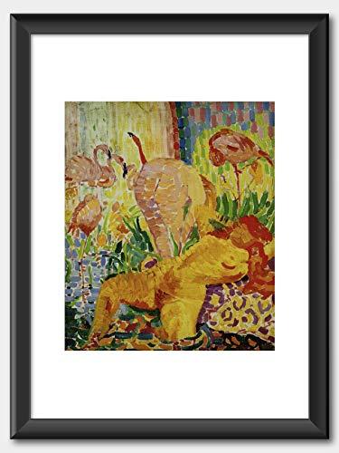 Robert Delaunay - Nus aux ibis (Akt mit Ibissen)1907 Print Black Frame White 60x80cm