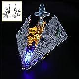 QJXF Juego De Luces USB Compatible con Lego Star Wars Primer Orden Destructor Estelar 75190, LED Light Kit para De Bloques De Creación De Modelos (No Incluido Modelo)