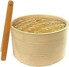 """10"""" Bamboo Steamer Set w/Bamboo Tong"""