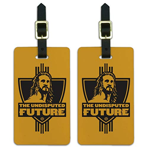 WWE The Undisputed Future Luggage ID Tags Suitcase Carry-On Cards - Set of 2