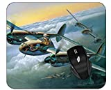 Gaming Mouse Pad Military Lockheed P-38 Lightning Non-Slip Rubber Mousepad