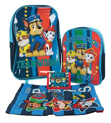 Paw Patrol Teamwork 4pc Children's Luggage Set in Wheeled Bag