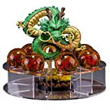 Mysika Acrylic Dragon Ball Set Shenron Action Figure Statue with 7pcs 3.5cm Balls and Stand