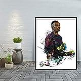 yhyxll Steve Mandanda Moderne Kunstdruck Wohnkultur Poster