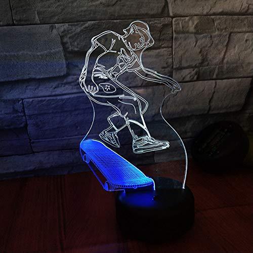 HWHZ Luz de la Noche de la visión 3D de la Vespa Luz Colorida del Regalo de la luz estéreo Recargable del Tacto LED