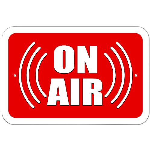 """Graphics and More Plastic Sign On Air Soundwaves Radio Podcast - 6"""" x 9"""" (15.3cm x 22.9cm)"""