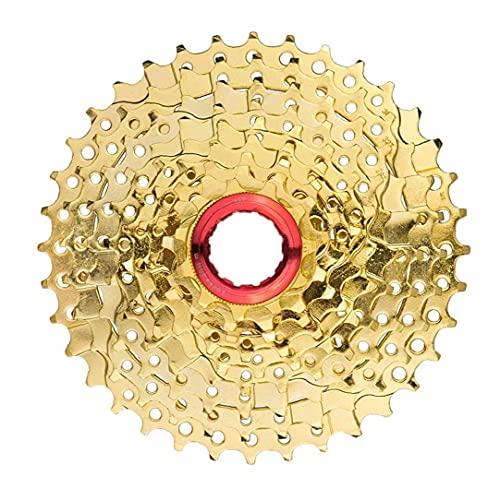 NaiCasy 9 velocità MTB Ruota Libera Bicicletta Cassette 11-36T Ampio Rapporto Bike Sprocket Parte Accessary (Golden)