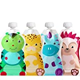 Product Image of the ChooMee Reusable Baby Food Pouches, SnakPack | Water Tight Double Lock Zipper,...