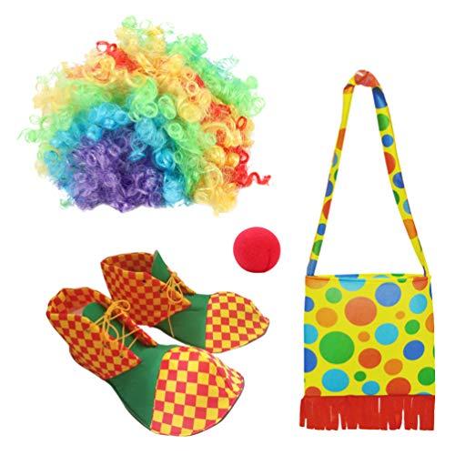 VORCOOL Accesorios para disfraz de payaso para carnaval, divertido, dibujos animados, disfraz de cosplay, accesorios para nios, 1 juego