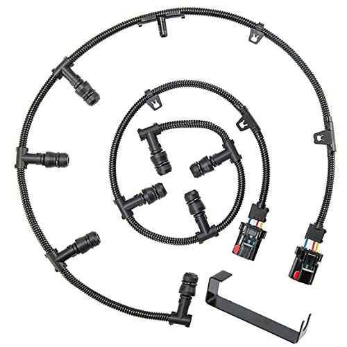 3C3Z-12A690-AA Powerstroke 6.0 Diesel Glow Plug Harness Kit Includes Right Left Harness Removal Tool,Compatible with 2004-2010 Ford 6.0L V8 Powerstroke Diesel Engine Ford F-250 F-350 F-450 Super Duty